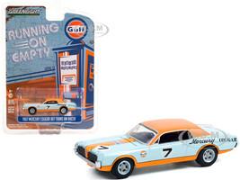 1967 Mercury Cougar XR7 Trans Am T/A Racer #7 Gulf Racing Light Blue Orange Running on Empty Series 13 1/64 Diecast Model Car Greenlight 41130 B