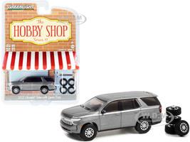 2021 Chevrolet Tahoe Satin Steel Gray Metallic Spare Tires The Hobby Shop Series 11 1/64 Diecast Model Car Greenlight 97110 E