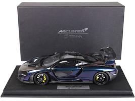 2019 McLaren Senna Chameleon Metallic Carbon Accents DISPLAY CASE Limited Edition 140 pieces Worldwide 1/18 Model Car BBR P18149 I