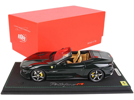Ferrari Portofino M Convertible Verde British Green DISPLAY CASE Limited Edition 40 pieces Worldwide 1/18 Model Car BBR P18193 C
