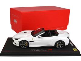 Ferrari Portofino M Convertible Bianco Cervino White DISPLAY CASE Limited Edition 22 pieces Worldwide 1/18 Model Car BBR P18193 E