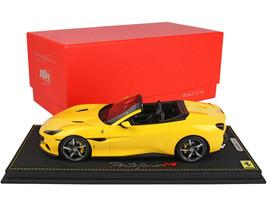 Ferrari Portofino M Convertible Giallo Modena Yellow DISPLAY CASE Limited Edition 24 pieces Worldwide 1/18 Model Car BBR P18193 F