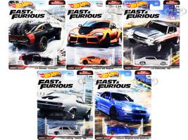Fast & Furious Movie 5 piece Set Fast Superstars Diecast Model Cars Hot Wheels GBW75-956M
