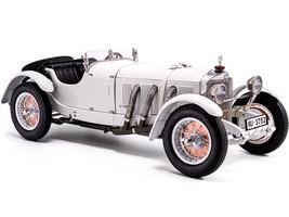 1928 Mercedes Benz SSK White Hermann zu Leiningen Limited Edition 1000 pieces Worldwide 1/18 Diecast Model Car CMC M-190