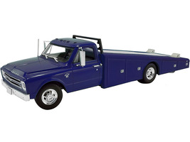 1967 Chevrolet C30 Ramp Truck Blue Limited Edition 312 pieces Worldwide 1/18 Diecast Model Car ACME A1801709