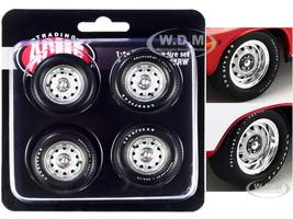 Mopar Rally Wheel and Tire Set of 4 pieces 1/18 ACME A1806123RW