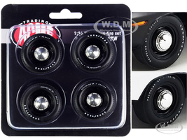 Mopar Black Steel Wheel and Tire Set of 4 pieces 1/18 ACME A1806123W