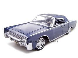 1961 Lincoln Continental Dark Blue 1/18 Diecast Car Model Road Signature 20088