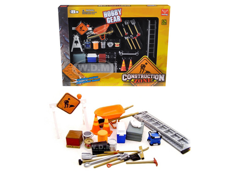 Construction Accessories Set For 1/24 Diecast Car Models Unique Replicas 18425