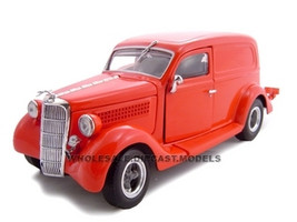 1935 Ford Sedan Delivery Red 1/24 Diecast Car Unique Replicas 18526