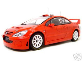 2005 Peugeot 307 WRC Plain Body Version Red 1/18 Diecast Model Car Autoart 80557