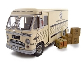 1961 Divco Di Vidend Step Van Cream 1/34 Diecast Model Car Unique Replicas 18531