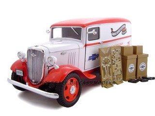 1935 Chevrolet Sedan Delivery Van White 1/24 Diecast Model Car Unique Replicas 18620