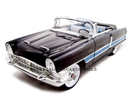 1955 Packard Caribbean Convertible Black 1/18 Diecast Model Car Road Signature 92618