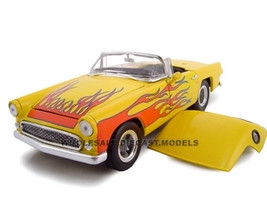 1956 Ford Thunderbird Yellow Street Rod 1/24 Diecast Model Unique Replicas 18513