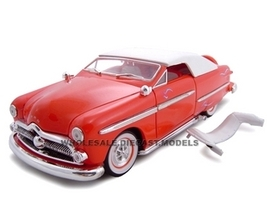 1949 Ford Convertible Red 1/24 Diecast Car Unique Replicas 18582
