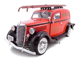 1935 Ford Chicago Fire Department 1/24 Diecast Car Model Unique Replicas 18517