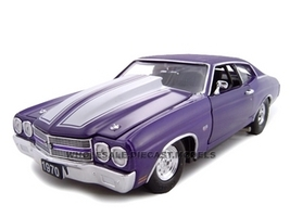 1970 Chevrolet Chevelle SS 454 Purple Pro Street 1/24 Diecast Car Model Unique Replicas 18676