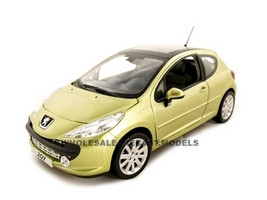 Peugeot 207 Gold 1/18 Diecast Model Car Norev 184758