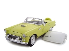 1956 Ford Thunderbird Yellow 1/24 Diecast Model Car Unique Replicas 18508