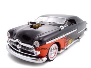 1949 Ford With 460 Engine Blower Black 1/24 Diecast Car Model Unique Replicas 18590
