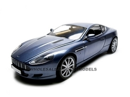 2004 Aston Martin DB9 Coupe Blue 1/18 Diecast Car Model Motormax 73174