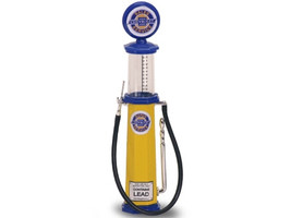 Chevy Gasoline Vintage Gas Pump Cylinder 1/18 Diecast Replica Road Signature 98642