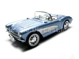 1957 Chevrolet Corvette Convertible Blue 1/18 Diecast Car Model Road Signature 92018