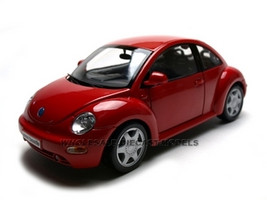 Volkswagen New Beetle Red 1/18 Diecast Model Car Maisto 31875