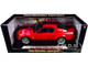 2008 Ford Shelby Mustang GT500 Super Snake Red Black Stripes Shelby Collectibles Legend Series 1/18 Diecast Model Car Shelby Collectibles SC313