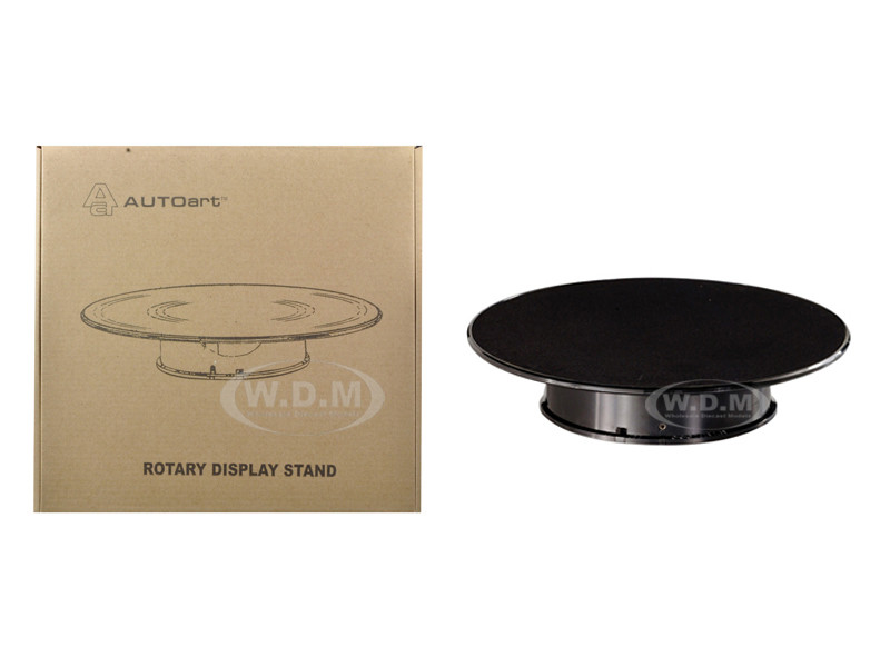 Rotary Display Stand Medium 10 Inches Black Top 1/64 1/43 1/32 1/24 1/18 Scale Models Autoart 98014