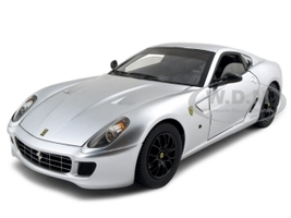 Ferrari 599 GTB Fiorano Elite Edition Silver 1/18 Diecast Model Car Hotwheels N2066