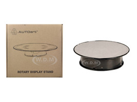 Rotary Display Turn Table 8 Inches with Silver Top 1/43, 1/64, 1/32, 1/24 Autoart 98018
