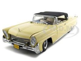 1958 Lincoln Continental Mark 3 Soft Top Yellow Platinum Edition 1/18 Diecast Model Car Sunstar 4703