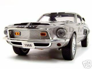 1968 Shelby GT 500KR Silver 1/18 Diecast Model Car Road Signature 92168