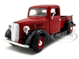 1937 Ford Pickup Truck Red 1/24 Diecast Car Model Motormax 73233