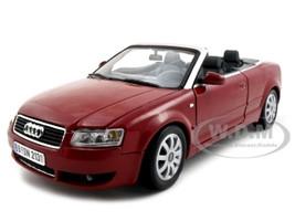 Audi A4 Red Convertible 1/18 Diecast Model Car Motormax 73148