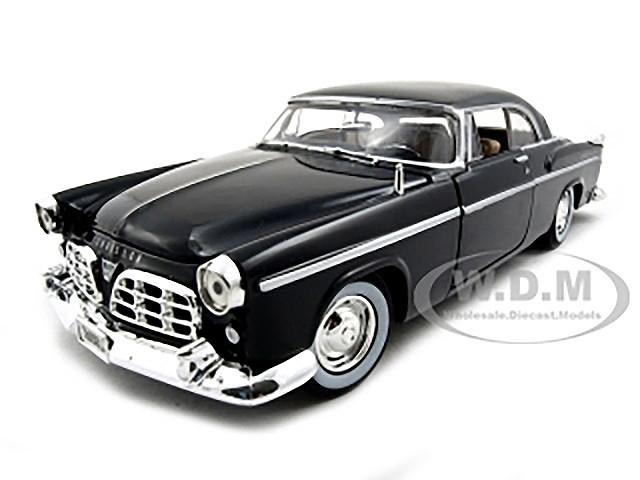 1955 Chrysler C300 Black 1/24 Diecast Model Car Motormax 73302