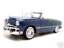 1949 Ford Convertible Blue 1/18 Diecast Model Car  Maisto 31682