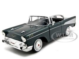 1957 Chevrolet Bel Air Green 1/24 Diecast Model Car Motormax 73228