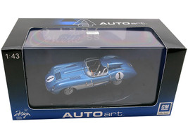 1957 Chevrolet Corvette SS #1 Blue Metallic 1/43 Diecast Model Car Autoart 51051