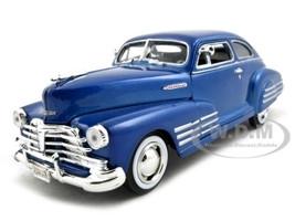 1948 Chevrolet Aerosedan Fleetline Blue 1/24 Diecast Model Car Motormax 73266