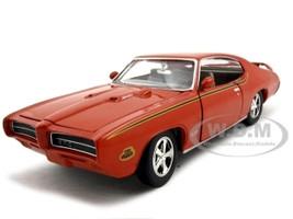 1969 Pontiac GTO Judge Orange 1/24 Diecast Model Car Motormax 73242