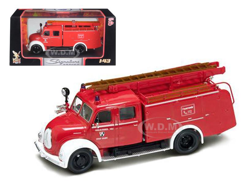 1961 Magirus Deutz Mercur TLF-16 Red/White 1/43 Diecast Model Car Road Signature 43010
