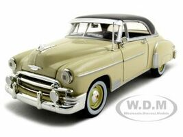 1950 Chevrolet Bel Air Cream 1/24 Diecast Model Car Motormax 73268