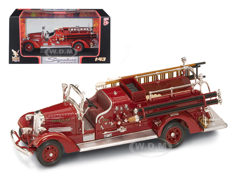 1938 Ahrens Fox VC Fire Engine Red 1/43 Diecast Model Road Signature 43003