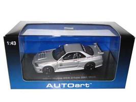 Nissan Skyline GT-R Z Tune R34 2001 Silver 1/43 Diecast Model Car Autoart 60180
