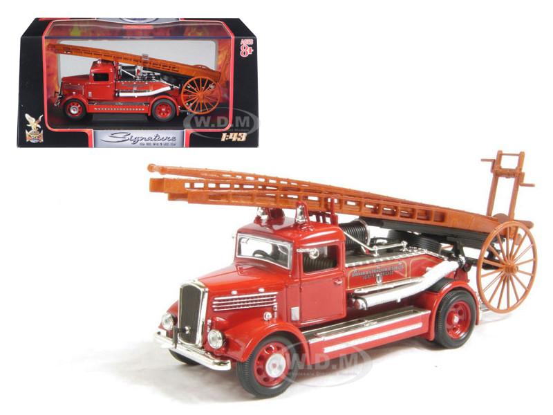 1938 Dennis Light Four Fire Engine Red 1/43 Diecast Car Model Road Signature 43011