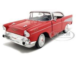 1957 Chevrolet Bel Air Red 1/24 Diecast Model Car Motormax 73228
