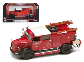 1950 Mercedes Typ TLF-15 Fire Engine Red 1/43 Diecast Model Road Signature 43013
